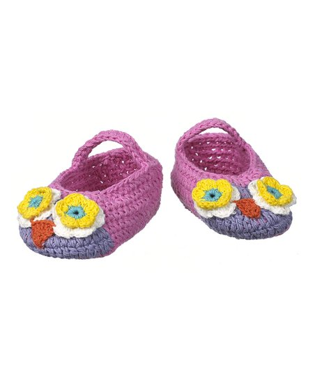 Pink & Purple Crocheted Bootie
