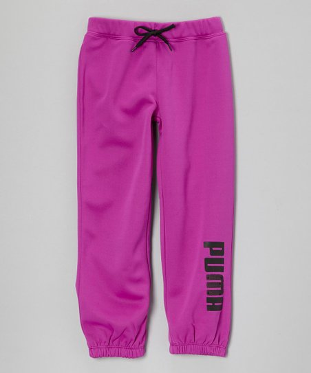 Purple Cactus Core Roll-Up Pants - Toddler & Girls