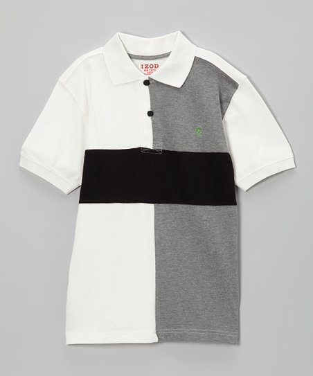 Cream & Gray Piqué Polo - Toddler & Boys