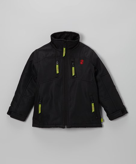 Black Soft-Shell Jacket - Toddler & Boys