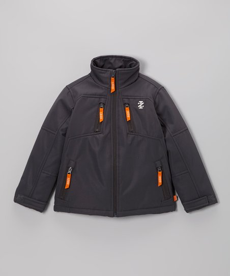 Dark Gray Soft-Shell Jacket - Toddler & Boys