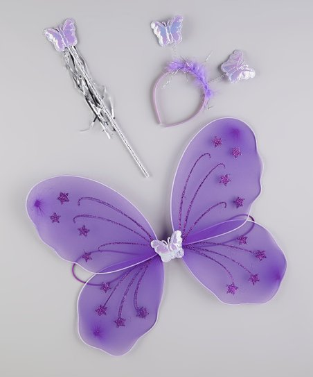 Purple Glitter Wing Set