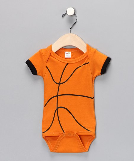 Orange Basketball Bodysuit