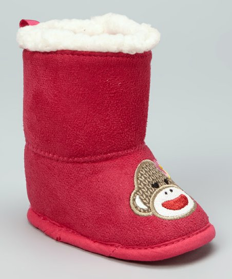 Pink Monkey Faux Fur Boot