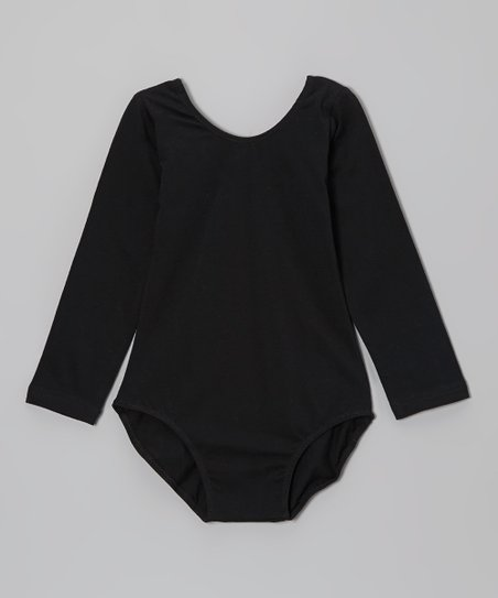 Black Long-Sleeve Leotard - Infant, Toddler & Girls