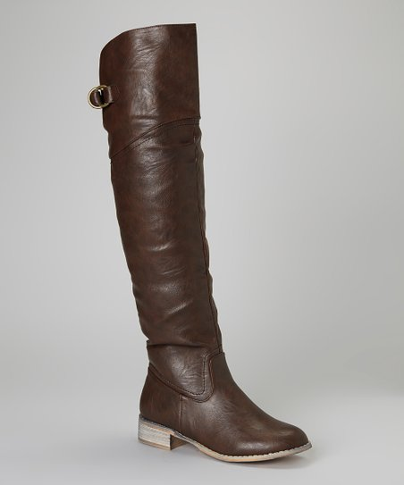 Brown Olympia Over-the-Knee Boot