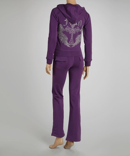 Purple Cross Hoodie & Lounge Pants