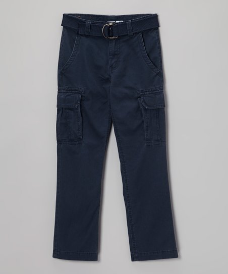 Navy Twill Cargo Pants - Boys