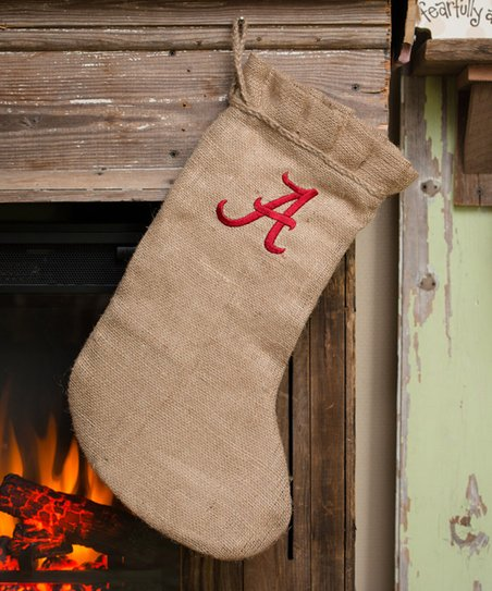 Alabama Burlap Stocking