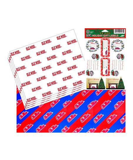 Ole Miss Gift Wrapping Set