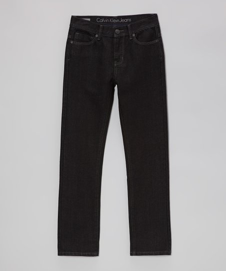 Over-Dyed Black Rocker Skinny Jeans - Boys