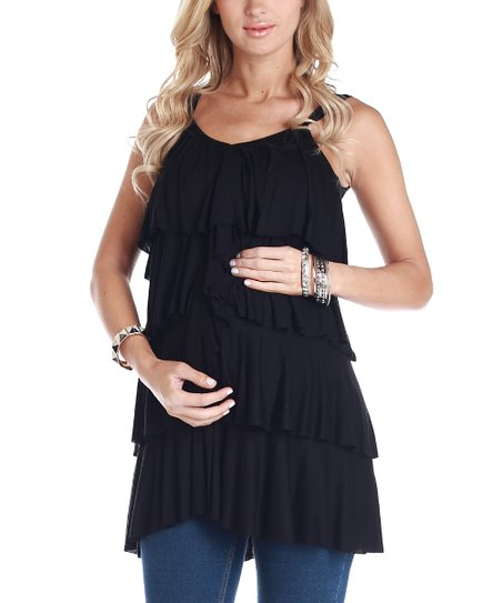 Black Tier Maternity Tank