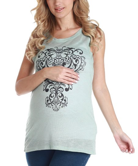 Mint Green Maternity Tank
