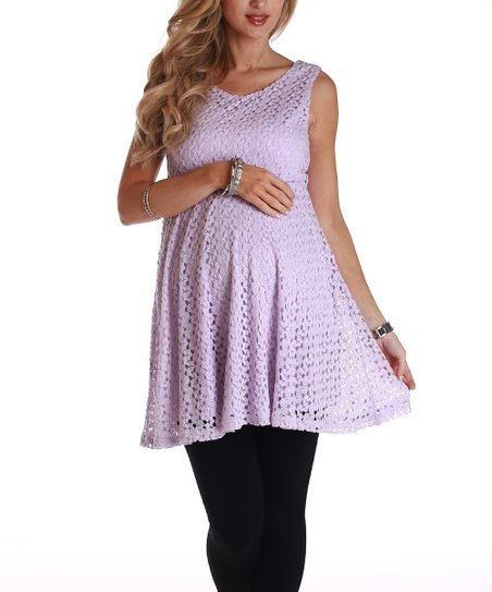 PinkBlush Purple Lace Maternity Tunic