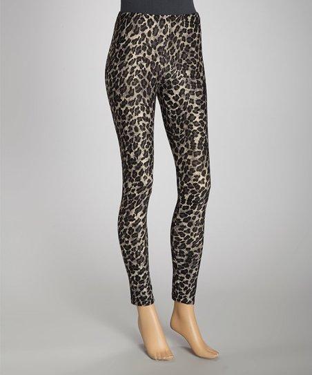 Gray Cheetah Leggings