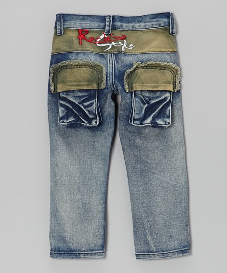 Blue Denim Zip-Front Jeans - Toddler & Boys
