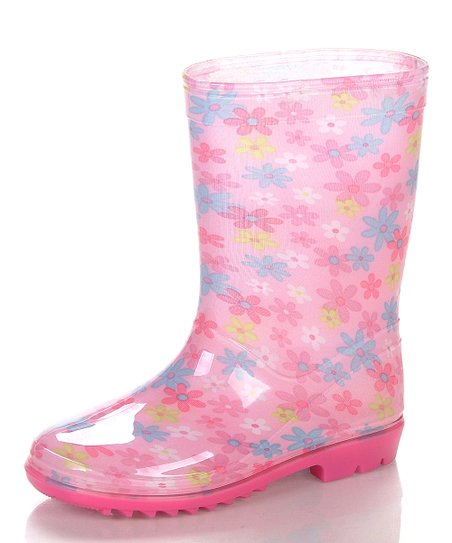 Pink & White Aquasion Rain Boot