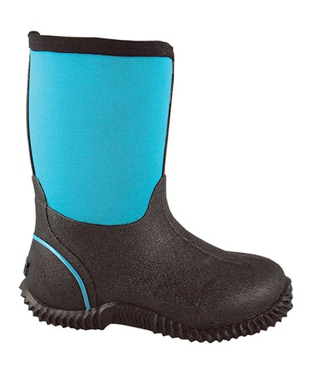 Blue & Black Amphibian Barn Boot - Kids