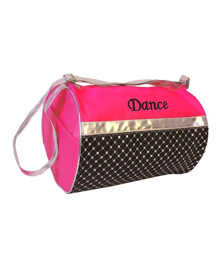Hot Pink Sequin 'Dance' Quilted Duffel Bag
