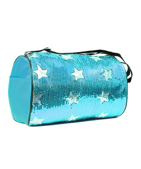 Aqua Sequin Star Duffel