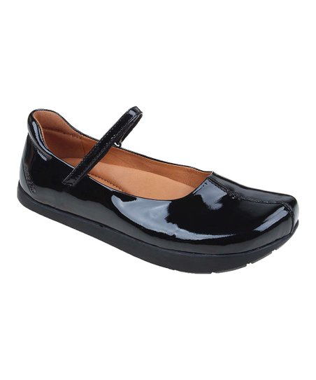 Black Solar Patent Leather Mary Jane