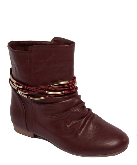 Burgundy Braid Gessica Ankle Boot