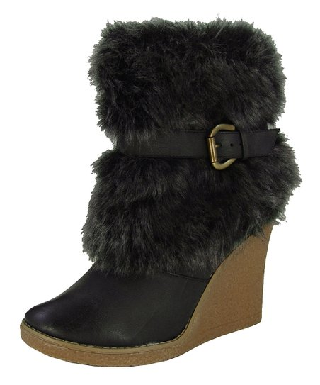 Black Natasha Wedge Boot
