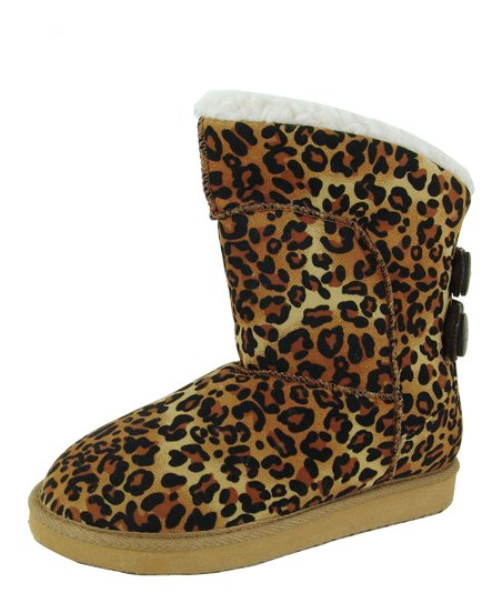 Brown Leopard Oakley Boot