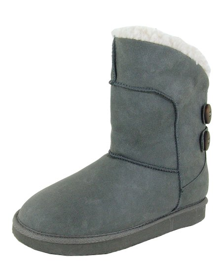 Gray Button Boot