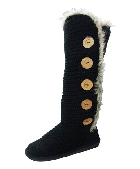 Black Button Rascal Boot