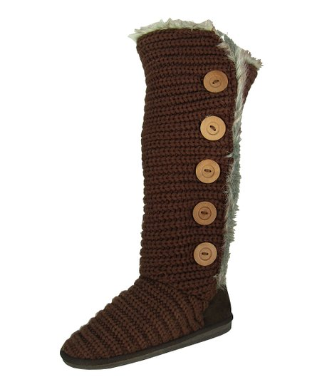 Brown Button Rascal Boot