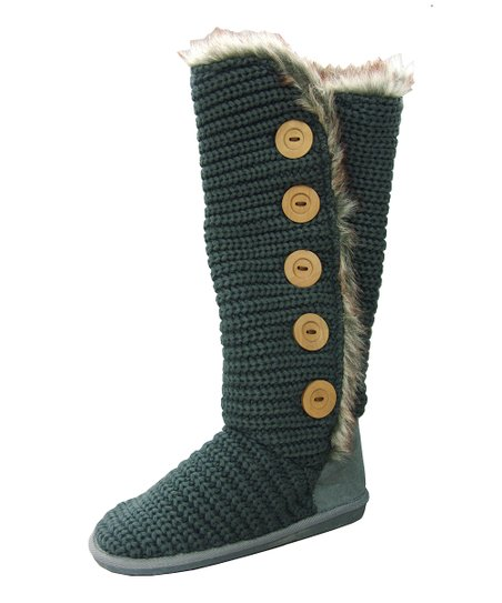 Gray Button Rascal Boot