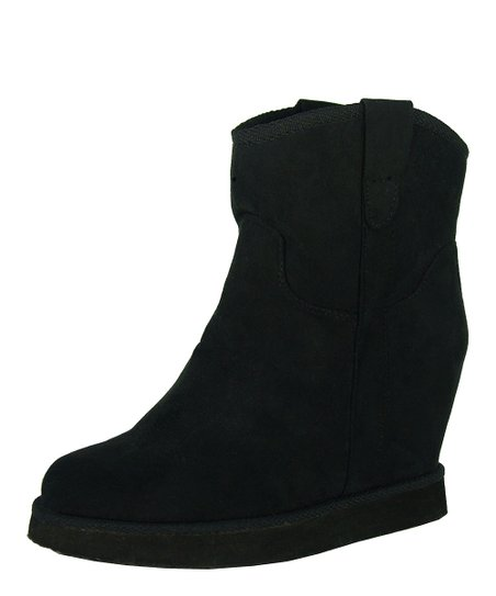 Black Wynter Wedge Boot