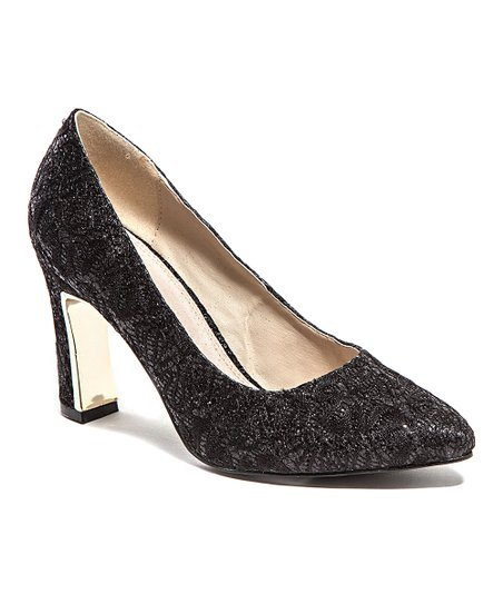 Black Lace Elegant Pump