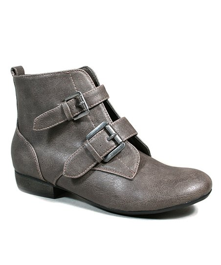 Taupe Odell Buckle Ankle Boot