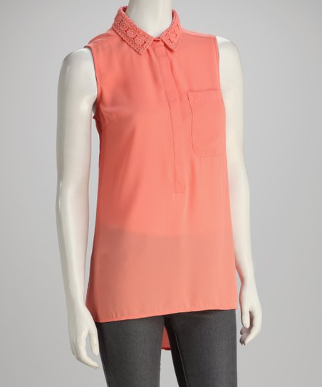 Peach Sleeveless Top