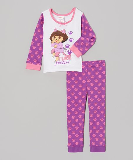 Purple 'Purr-fecto!' Tee & Pants - Toddler
