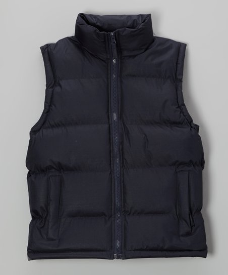 Navy Zip-Up Vest - Boys
