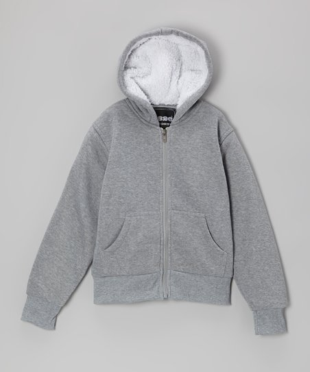 Heather Gray Zip-Up Hoodie - Boys