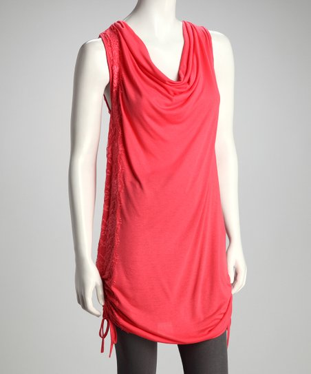 Coral Drape Tunic
