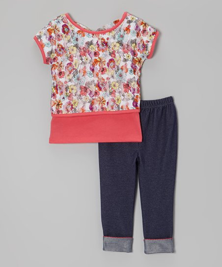 Pink Floral Top Set - Infant & Toddler
