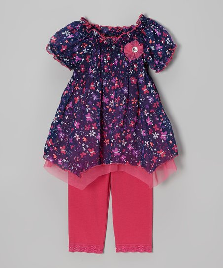 Fuchsia Handkerchief Tunic & Leggings - Infant, Toddler & Girls