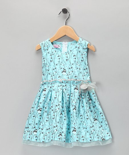 Di Vani Blue Floral Dress - Toddler & Girls