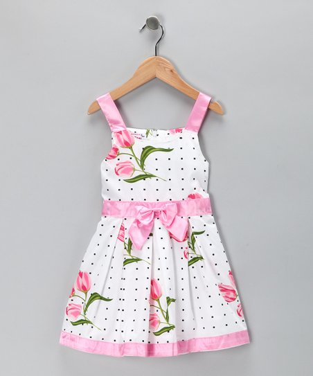 Pink Tulip Bow Dress - Toddler & Girls
