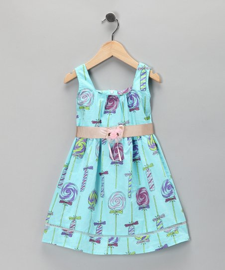 Blue Lollipop Dress - Toddler & Girls
