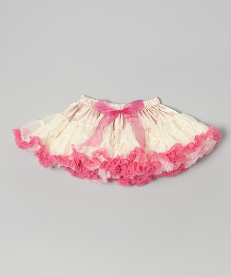 Ivory & Pink Reversible Pettiskirt - Infant, Toddler & Girls