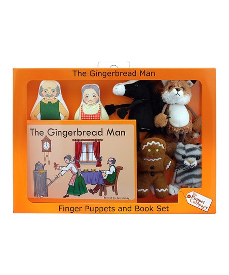 The Gingerbread Man Finger Puppet Set
