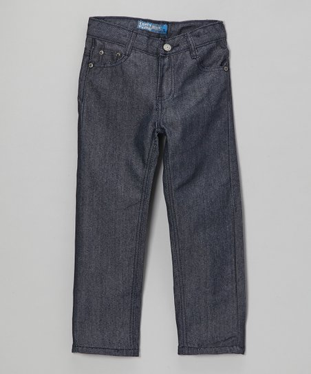 Blue Gray Five-Pocket Straight-Leg Pants - Toddler & Boys