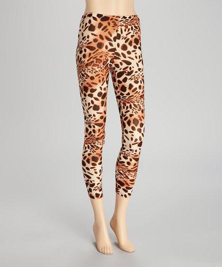 Black & Tan Leopard Leggings