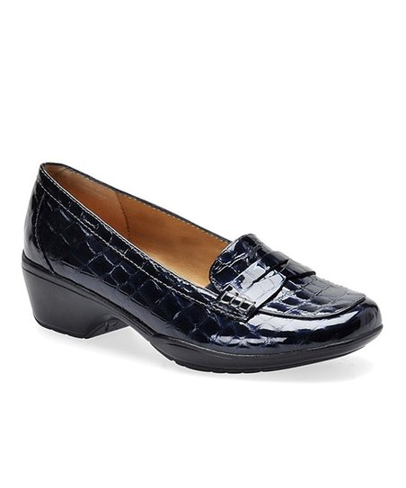 Metallic Navy Maven Loafer